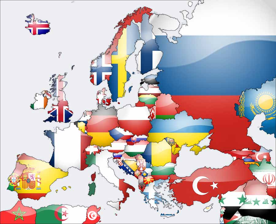 Maps Update 12001142 Map of All Countries in Europe Political – Map of All Europe