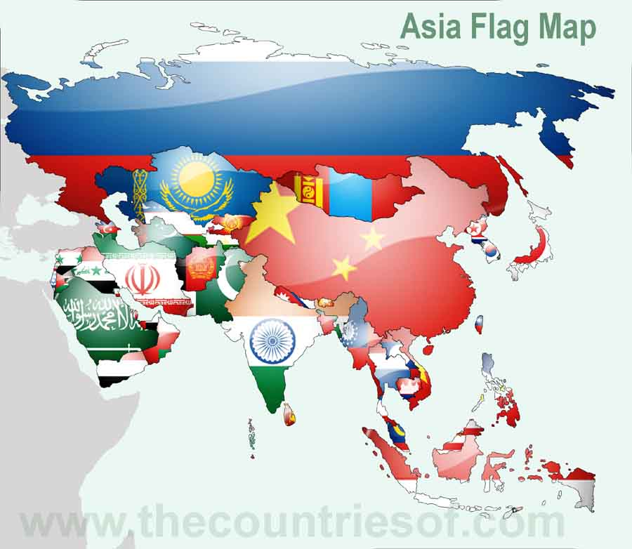 Is asia a country or continent countries of the world asia flags map flags of asian countryes asia flag asian countries flags gumiabroncs Gallery