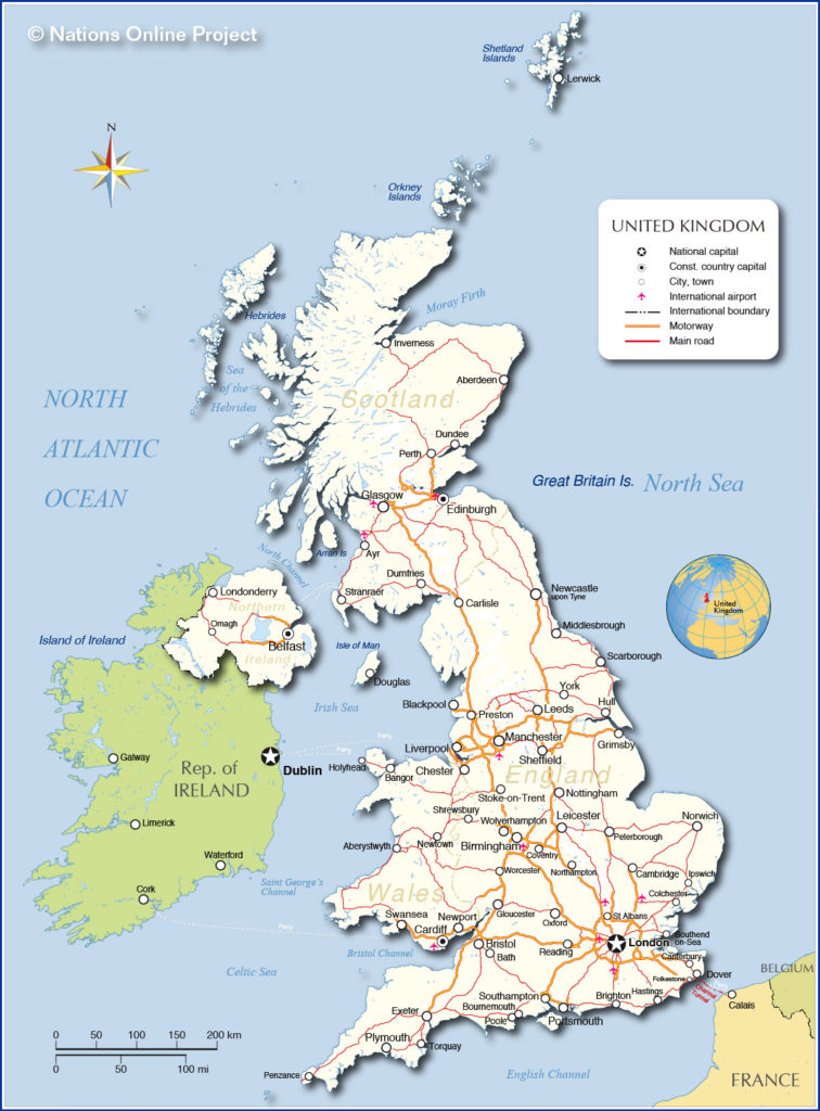 Uk Map Of Countries.What Countries Border Uk Which Countries Border England Or Great